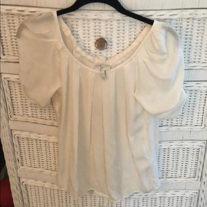Joie Ivory Silk Top